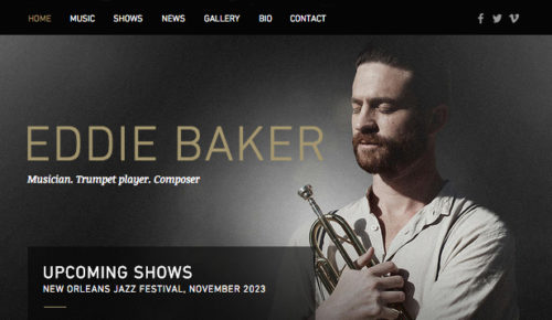 Eddie Baker, Music Artists