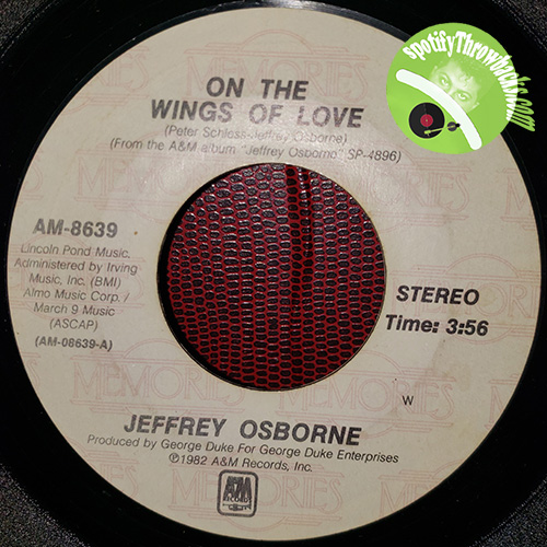 On The Wings Of Love by Jeffrey Osborne, SpotifyThrowbacks.com