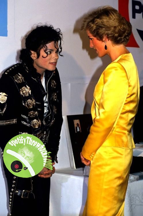 Michael Jackson and Princes Diana - SpotifyThrowbacks.com