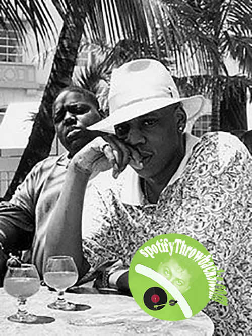 B.I.G and Jay-Z, chillin' out - SpotifyThrowbacks.com