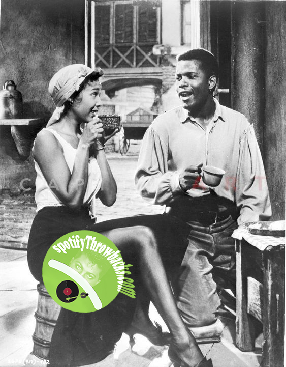 "Sidney Poitier in a scene from the musical play ""Porgy and Bess."" - SpotifyThrowbacks.com"