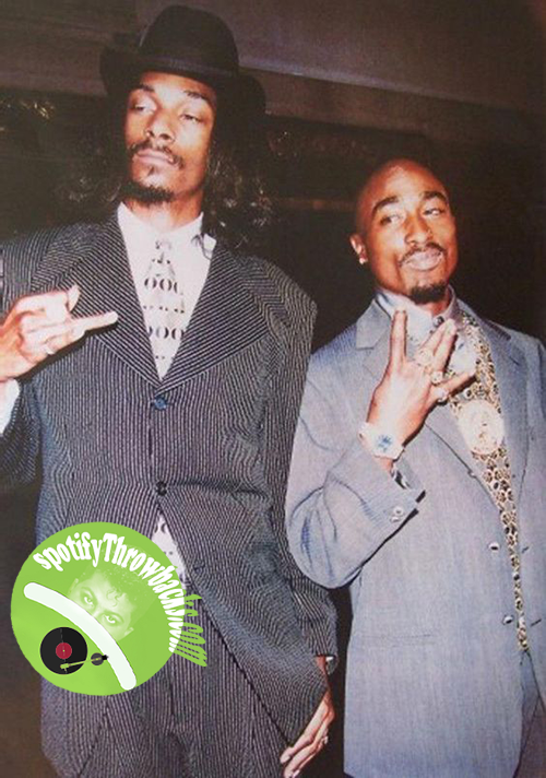Snoop Dog & the late Tupac - SpotifyThrowbacks.com