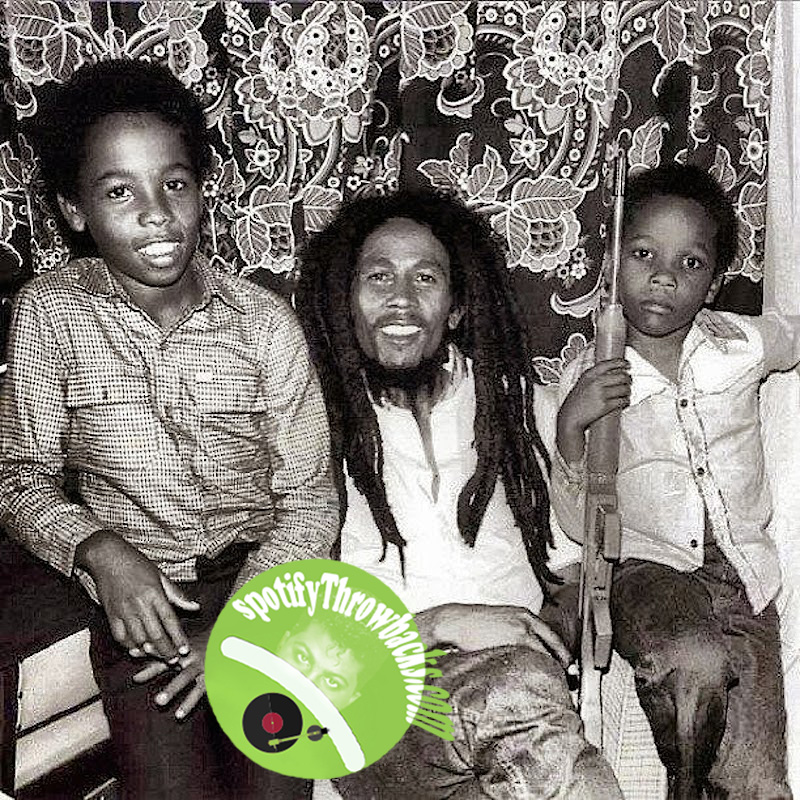 Bob Marley & Children - SpotifyThrowbacks.com