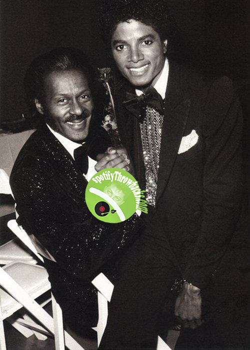 The late Chuck Berry & the late Michael Jackson - SpotifyThrowbacks.com
